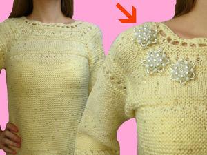 Мастерим брошь для украшения вязаного платья. Ярмарка Мастеров - ручная работа, handmade.