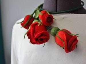 Фотоотчёт о МК колье  «Роза». Ярмарка Мастеров - ручная работа, handmade.