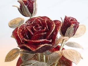 Делаем цветочную композицию из бисера. Ярмарка Мастеров - ручная работа, handmade.