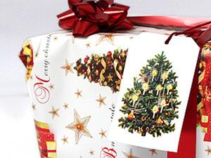Новогодние винтажные бирки для подарков!. Ярмарка Мастеров - ручная работа, handmade.