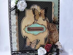 Декорирование чипборда в тон открытке. Ярмарка Мастеров - ручная работа, handmade.