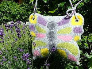 Валяем сумку-бабочку своими руками. Ярмарка Мастеров - ручная работа, handmade.