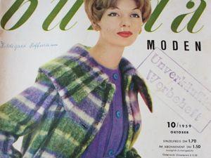 Burda moden 10/1959  Бурда Моден. Ярмарка Мастеров - ручная работа, handmade.