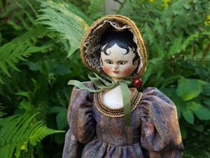 Reproduction Grodnertal Tuck Comb  Wooden doll Lady Jane. Ярмарка Мастеров - ручная работа, handmade.