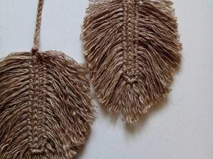 Как связать листики из джута. Ярмарка Мастеров - ручная работа, handmade.