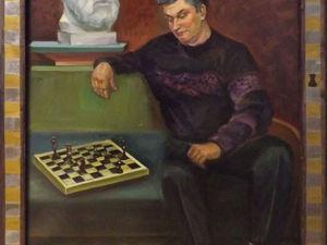 Стилизуем рамку для картины под шахматную доску. Ярмарка Мастеров - ручная работа, handmade.