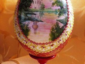 Расписываем и декорируем пасхальное яйцо. Ярмарка Мастеров - ручная работа, handmade.
