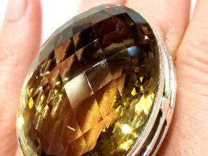 Видео кольца «Devona» раухцитрин,серебро 925 ручная работа. Ярмарка Мастеров - ручная работа, handmade.