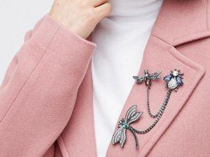 ТОП-5 способов носить БРОШЬ на пальто. Ярмарка Мастеров - ручная работа, handmade.