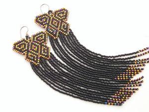 Создаем серьги из бисера в стиле Native American Indian  «Butterfly». Ярмарка Мастеров - ручная работа, handmade.