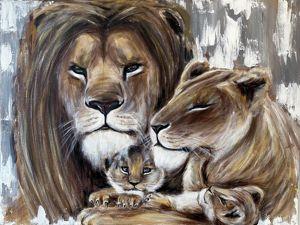 Львиная семья!. Ярмарка Мастеров - ручная работа, handmade.