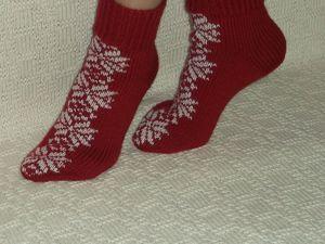 Скидка на носочки Снежинки (1 ) 25%. Ярмарка Мастеров - ручная работа, handmade.