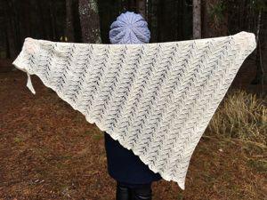 Вяжем ажурный платок спицами. Ярмарка Мастеров - ручная работа, handmade.
