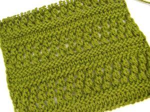 Урок вязания: ажурные узоры спицами для шарфа. Ярмарка Мастеров - ручная работа, handmade.