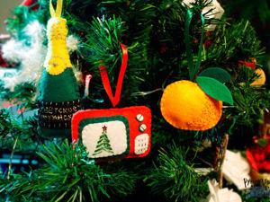Как сделать новогодние игрушки «советский набор» из фетра. Ярмарка Мастеров - ручная работа, handmade.