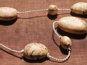Березовые бусы Морские камушки. Ярмарка Мастеров - ручная работа, handmade.