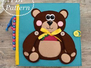Мастер-класс!!! Развивающая книжка Медвежонок!!!. Ярмарка Мастеров - ручная работа, handmade.