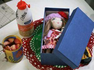 Мастерим коробочку для куклы. Ярмарка Мастеров - ручная работа, handmade.