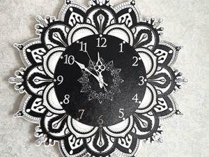 Маленькие истории  моих работ. Часы с зеркальной мозаикой для Анастасии. Ярмарка Мастеров - ручная работа, handmade.
