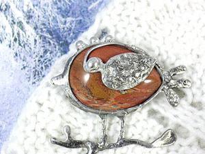 Делаем брошь — зимнюю птичку в технике Тиффани. Ярмарка Мастеров - ручная работа, handmade.