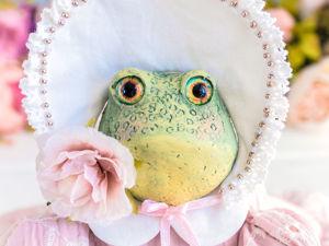 Жаба лягушка Ванесса. Ярмарка Мастеров - ручная работа, handmade.