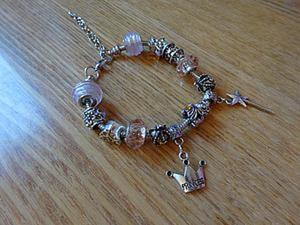"""Собираем браслет """"Волшебная принцесса"""" в стиле Пандора. Ярмарка Мастеров - ручная работа, handmade."""