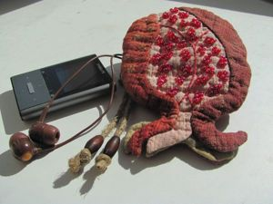 """Шьем кошелечек """"Осенний гранат"""". Ярмарка Мастеров - ручная работа, handmade."""