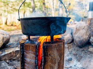 Финская свеча. Как быстро соорудить  «Плиту»  в лесу. Ярмарка Мастеров - ручная работа, handmade.