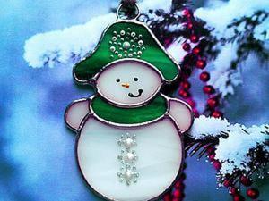 """Делаем витражную игрушку """"Снеговик"""". Ярмарка Мастеров - ручная работа, handmade."""