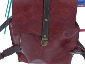 Красно-коричневый кожаный рюкзак ПовСедНеВный. Ярмарка Мастеров - ручная работа, handmade.