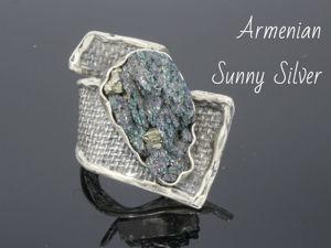 Кольцо Арнебия с кременем из серебра. Ярмарка Мастеров - ручная работа, handmade.