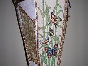 """Бисерный светильник """"Бабочки на бамбуке"""". Ярмарка Мастеров - ручная работа, handmade."""