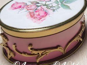 Декорируем шкатулку «Розовое настроение». Ярмарка Мастеров - ручная работа, handmade.