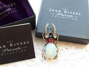 Видео. Брошь Жук,Joan Rivers,Private Collection,США. Ярмарка Мастеров - ручная работа, handmade.