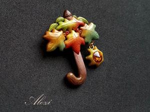 Лепим брошь  «Зонтик»  из полимерной глины. Ярмарка Мастеров - ручная работа, handmade.