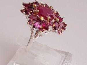 Кольцо с натуральным рубином  «Медея». Ярмарка Мастеров - ручная работа, handmade.