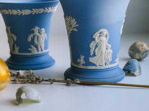 Винтажные вазы яшмовый фарфор Wedgwood Англия. Ярмарка Мастеров - ручная работа, handmade.