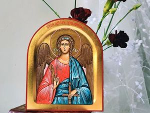 Лотерея на рукописную икону, в помощь Марии и Стёпе. Ярмарка Мастеров - ручная работа, handmade.