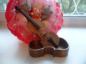 Как сделать шкатулку в форме скрипки. Ярмарка Мастеров - ручная работа, handmade.