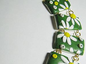 """Браслет """"Весенние ромашки"""". Ярмарка Мастеров - ручная работа, handmade."""