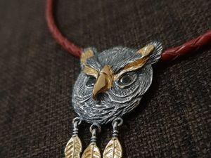 Подвеска СОВА. Тотемное животное Сова. Ярмарка Мастеров - ручная работа, handmade.