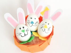 Пасхальный фетровый декор: яйца-зайчики. Ярмарка Мастеров - ручная работа, handmade.