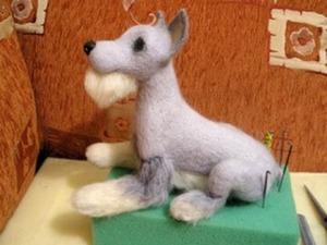 Этапы создания войлочной собачки. Ярмарка Мастеров - ручная работа, handmade.