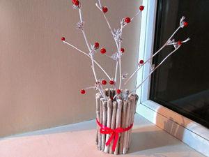 Простая идея декорирования стакана для украшения интерьера. Ярмарка Мастеров - ручная работа, handmade.