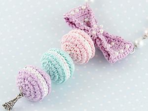 Как связать французские пирожные Macarons. Ярмарка Мастеров - ручная работа, handmade.