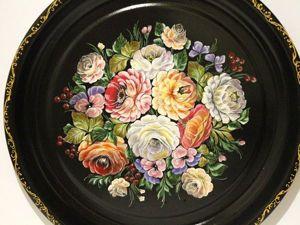 Рисуем цветы в технике жостовской росписи. Ярмарка Мастеров - ручная работа, handmade.