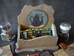 Новинка- чайный короб с подставками. Ярмарка Мастеров - ручная работа, handmade.