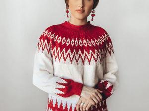 Вяжем свитер Ruby с узором Лопапейса. Ярмарка Мастеров - ручная работа, handmade.