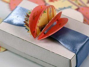 Украшаем простую коробочку бумажным помпончиком. Ярмарка Мастеров - ручная работа, handmade.