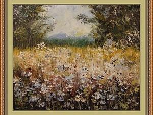 """Секреты рисования мастихином: картина """"Летний день"""". Ярмарка Мастеров - ручная работа, handmade."""